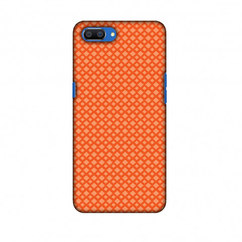 Carbon Fibre Redux Tangy Orange 7 Slim Hard Shell Case For Oppo Realme C1