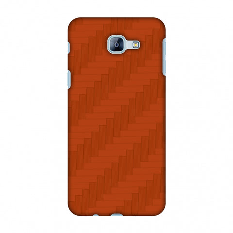 Carbon Fibre Redux Tangy Orange 8 Slim Hard Shell Case For Samsung Galaxy A8 2016