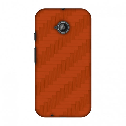 Carbon Fibre Redux Tangy Orange 8 Slim Hard Shell Case For Motorola Moto E 2nd Gen