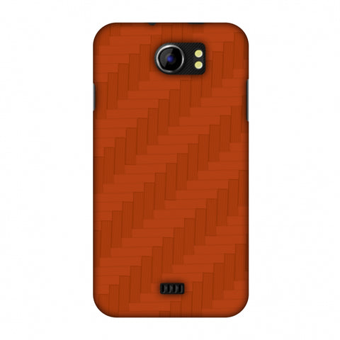 Carbon Fibre Redux Tangy Orange 8 Slim Hard Shell Case For Micromax Canvas 2 A110
