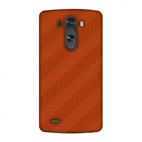 Carbon Fibre Redux Tangy Orange 8 Slim Hard Shell Case For LG G4