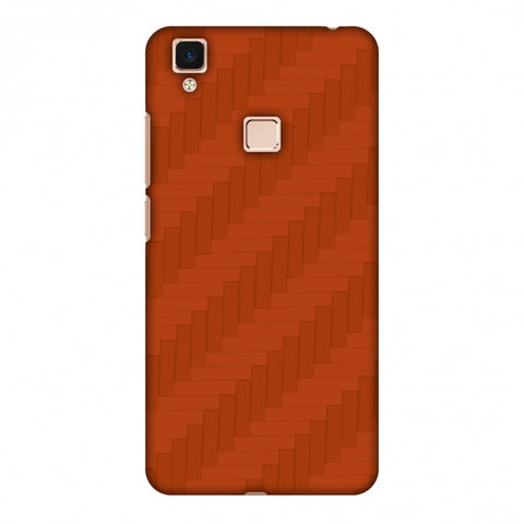 Carbon Fibre Redux Tangy Orange 8 Slim Hard Shell Case For Vivo V3 Max