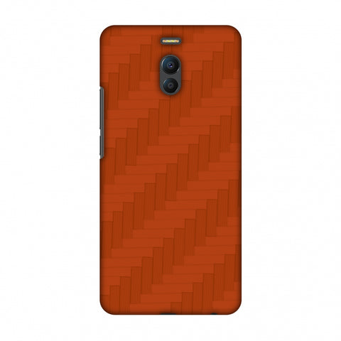 Carbon Fibre Redux Tangy Orange 8 Slim Hard Shell Case For Meizu Note 6