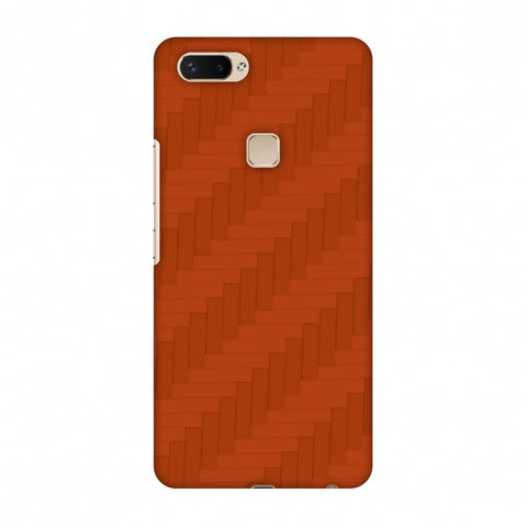 Carbon Fibre Redux Tangy Orange 8 Slim Hard Shell Case For Vivo X20 Plus