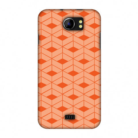 Carbon Fibre Redux Tangy Orange 9 Slim Hard Shell Case For Micromax Canvas 2 A110