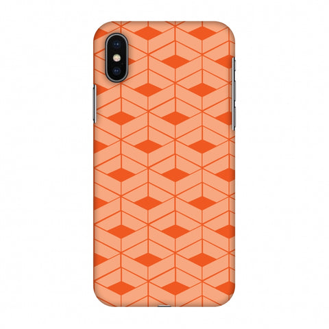 Carbon Fibre Redux Tangy Orange 9 Slim Hard Shell Case For Apple iPhone X