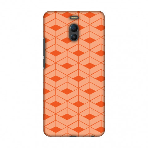 Carbon Fibre Redux Tangy Orange 9 Slim Hard Shell Case For Meizu Note 6
