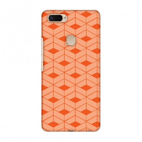 Carbon Fibre Redux Tangy Orange 9 Slim Hard Shell Case For Vivo X20 Plus