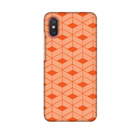 Carbon Fibre Redux Tangy Orange 9 Slim Hard Shell Case For Xiaomi Mi 8 Pro