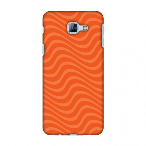 Carbon Fibre Redux Tangy Orange 10 Slim Hard Shell Case For Samsung Galaxy A8 2016