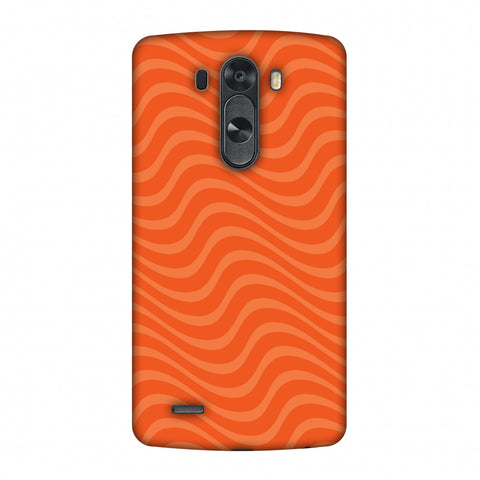 Carbon Fibre Redux Tangy Orange 10 Slim Hard Shell Case For LG G4