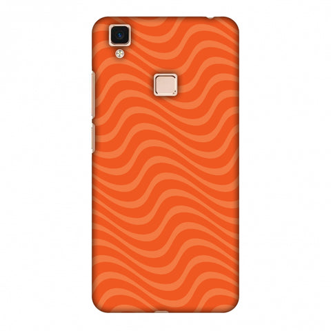Carbon Fibre Redux Tangy Orange 10 Slim Hard Shell Case For Vivo V3 Max