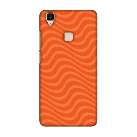 Carbon Fibre Redux Tangy Orange 10 Slim Hard Shell Case For Vivo V3
