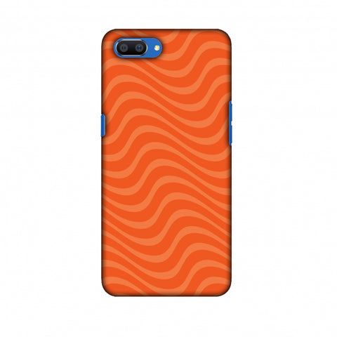 Carbon Fibre Redux Tangy Orange 10 Slim Hard Shell Case For Oppo Realme C1