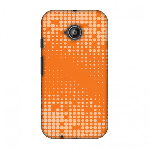 Carbon Fibre Redux Tangy Orange 11 Slim Hard Shell Case For Motorola Moto E 2nd Gen