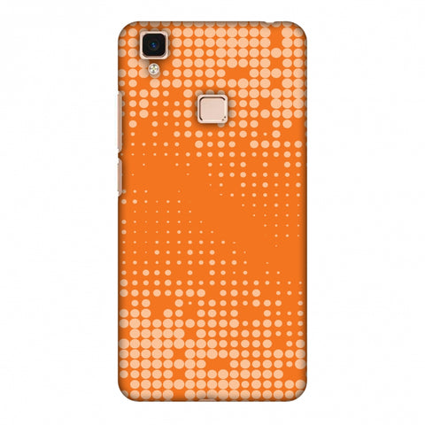 Carbon Fibre Redux Tangy Orange 11 Slim Hard Shell Case For Vivo V3 Max
