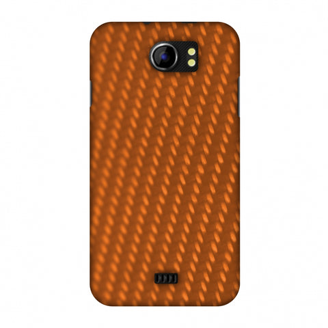 Carbon Fibre Redux Tangy Orange 12 Slim Hard Shell Case For Micromax Canvas 2 A110