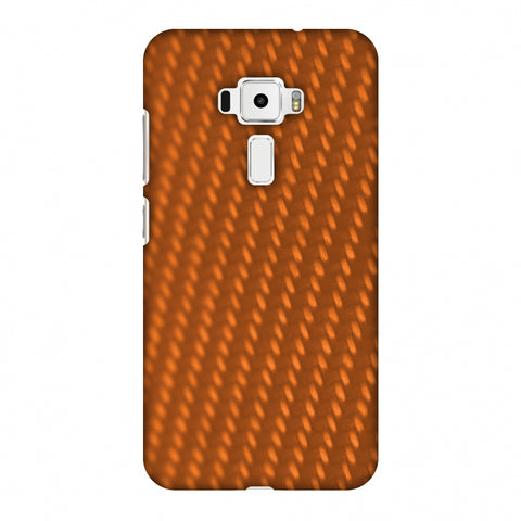 Carbon Fibre Redux Tangy Orange 12 Slim Hard Shell Case For Asus Zenfone 3 ZE520KL