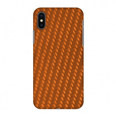 Carbon Fibre Redux Tangy Orange 12 Slim Hard Shell Case For Apple iPhone X