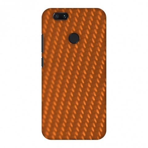 Carbon Fibre Redux Tangy Orange 12 Slim Hard Shell Case For Xiaomi MI A1-5X