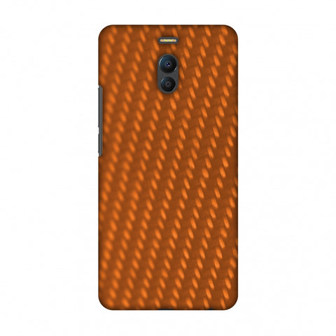 Carbon Fibre Redux Tangy Orange 12 Slim Hard Shell Case For Meizu Note 6