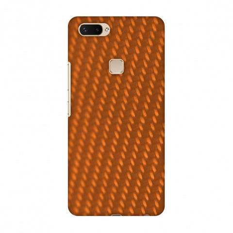 Carbon Fibre Redux Tangy Orange 12 Slim Hard Shell Case For Vivo X20 Plus