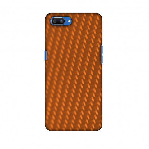 Carbon Fibre Redux Tangy Orange 12 Slim Hard Shell Case For Oppo Realme C1