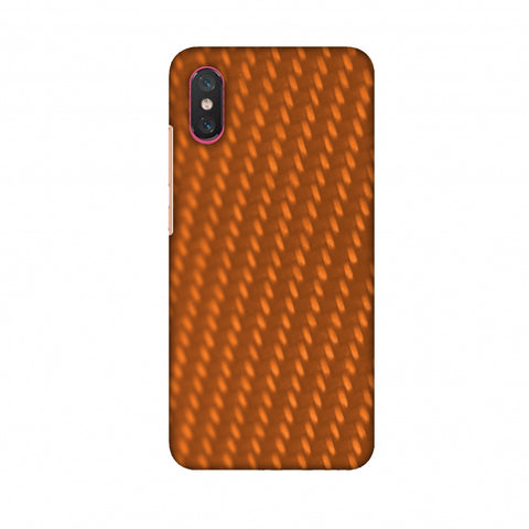 Carbon Fibre Redux Tangy Orange 12 Slim Hard Shell Case For Xiaomi Mi 8 Pro