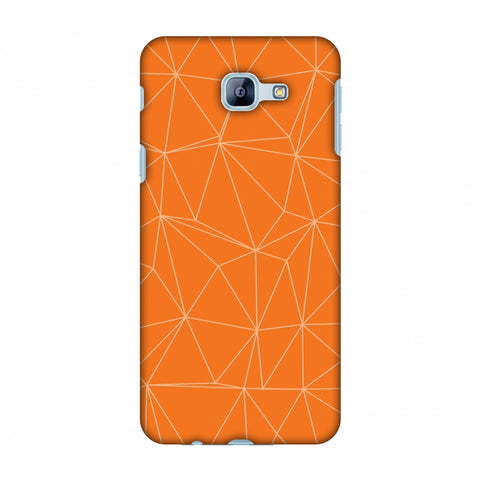 Carbon Fibre Redux Tangy Orange 13 Slim Hard Shell Case For Samsung Galaxy A8 2016