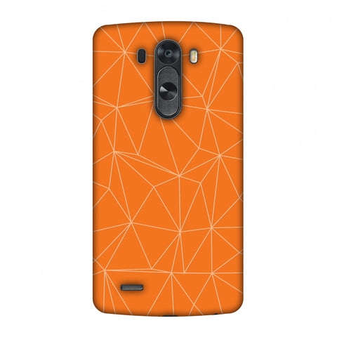 Carbon Fibre Redux Tangy Orange 13 Slim Hard Shell Case For LG G4