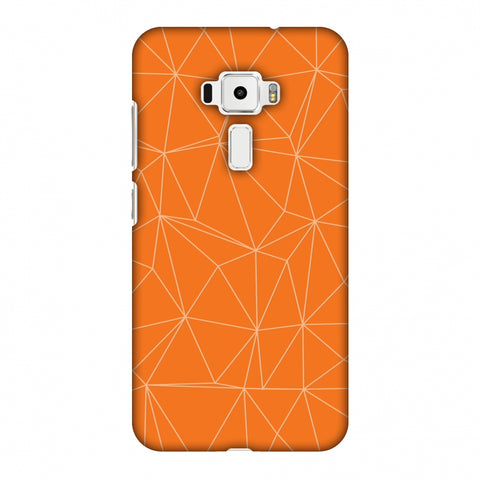 Carbon Fibre Redux Tangy Orange 13 Slim Hard Shell Case For Asus Zenfone 3 ZE520KL