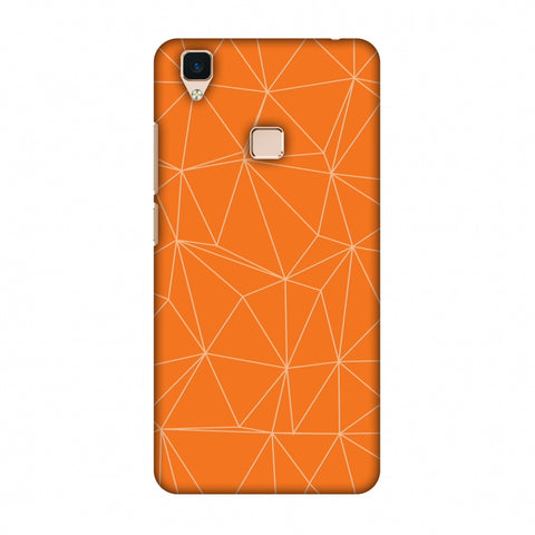 Carbon Fibre Redux Tangy Orange 13 Slim Hard Shell Case For Vivo V3