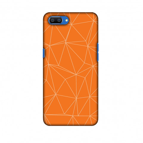 Carbon Fibre Redux Tangy Orange 13 Slim Hard Shell Case For Oppo Realme C1