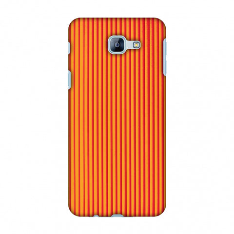 Carbon Fibre Redux Tangy Orange 14 Slim Hard Shell Case For Samsung Galaxy A8 2016