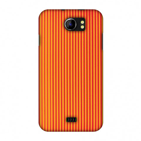 Carbon Fibre Redux Tangy Orange 14 Slim Hard Shell Case For Micromax Canvas 2 A110
