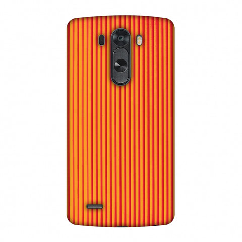 Carbon Fibre Redux Tangy Orange 14 Slim Hard Shell Case For LG G4