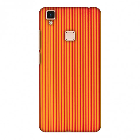 Carbon Fibre Redux Tangy Orange 14 Slim Hard Shell Case For Vivo V3 Max