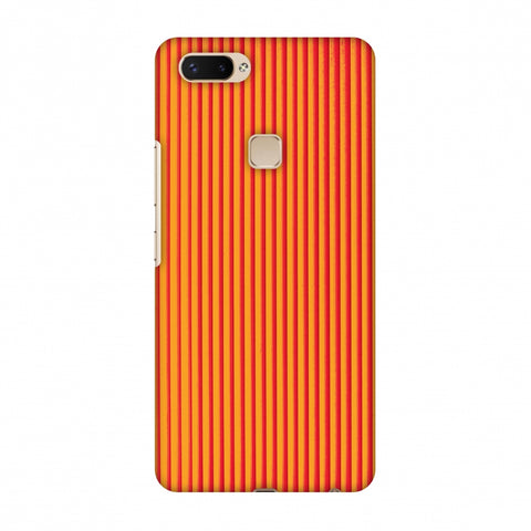 Carbon Fibre Redux Tangy Orange 14 Slim Hard Shell Case For Vivo X20 Plus