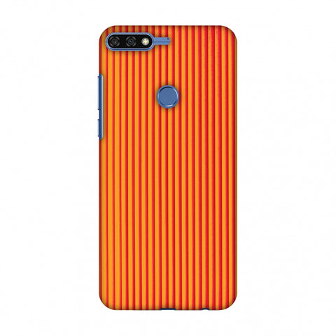 Carbon Fibre Redux Tangy Orange 14 Slim Hard Shell Case For Huawei Honor 7C