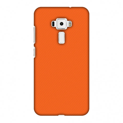 Carbon Fibre Redux Tangy Orange 15 Slim Hard Shell Case For Asus Zenfone 3 ZE520KL
