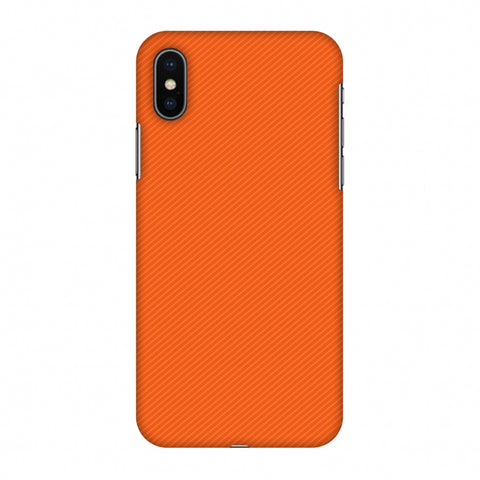 Carbon Fibre Redux Tangy Orange 15 Slim Hard Shell Case For Apple iPhone X