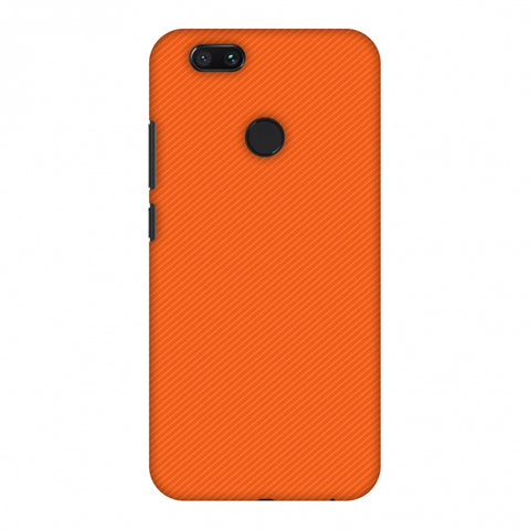 Carbon Fibre Redux Tangy Orange 15 Slim Hard Shell Case For Xiaomi MI A1-5X
