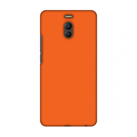 Carbon Fibre Redux Tangy Orange 15 Slim Hard Shell Case For Meizu Note 6