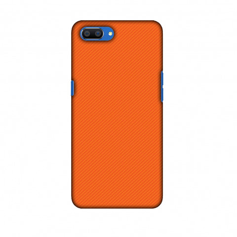 Carbon Fibre Redux Tangy Orange 15 Slim Hard Shell Case For Oppo Realme C1
