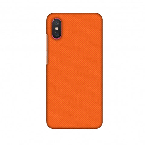 Carbon Fibre Redux Tangy Orange 15 Slim Hard Shell Case For Xiaomi Mi 8 Pro