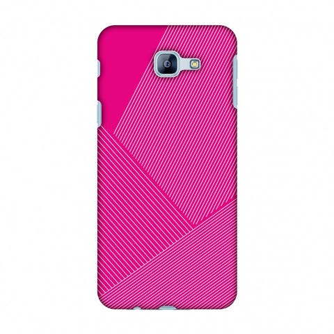 Carbon Fibre Redux Hot Pink 1 Slim Hard Shell Case For Samsung Galaxy A8 2016