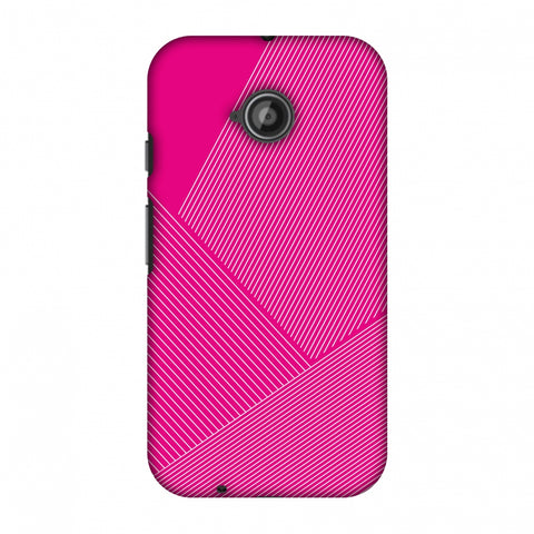Carbon Fibre Redux Hot Pink 1 Slim Hard Shell Case For Motorola Moto E 2nd Gen