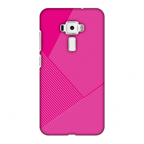 Carbon Fibre Redux Hot Pink 1 Slim Hard Shell Case For Asus Zenfone 3 ZE520KL