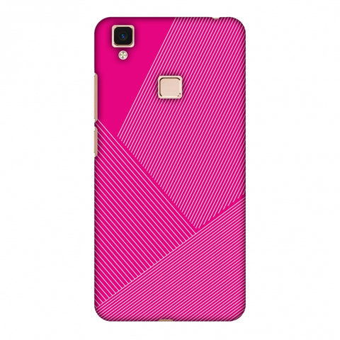 Carbon Fibre Redux Hot Pink 1 Slim Hard Shell Case For Vivo V3 Max