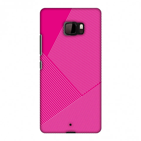 Carbon Fibre Redux Hot Pink 1 Slim Hard Shell Case For HTC U Ultra
